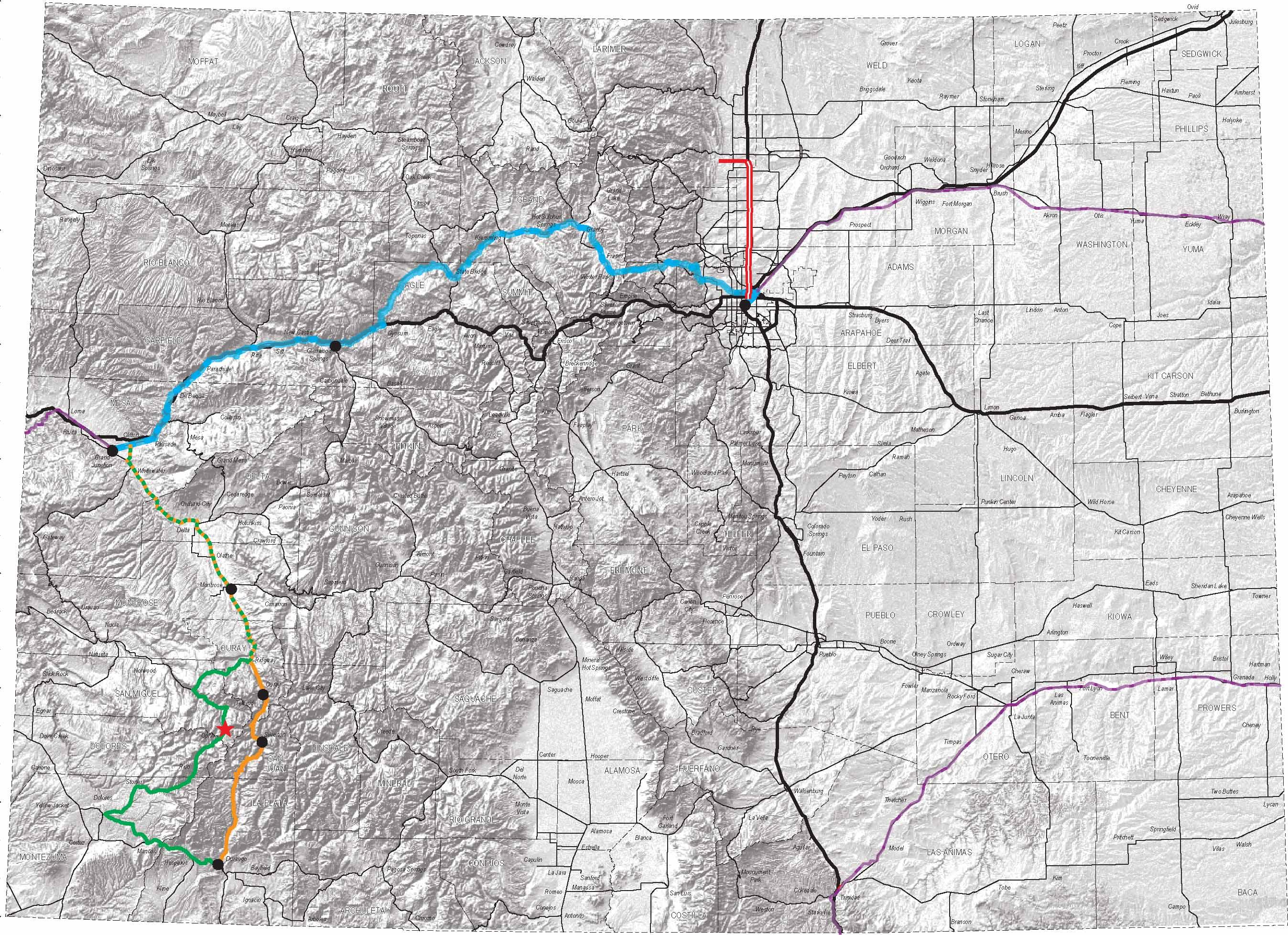 Amtrak Across Colordo To Durango